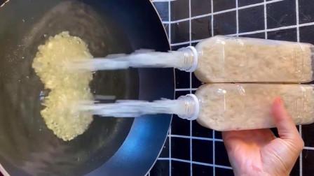 大米炸着吃做米老头,孩子们的小零食,贼香了