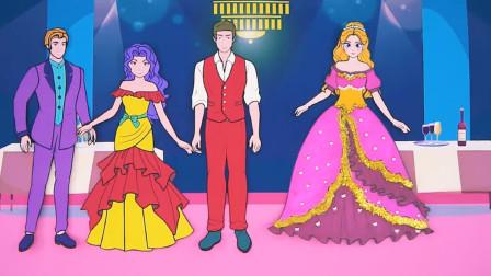 童话剪纸故事:灰姑娘帮助乞丐获得新衣服,成为舞会最亮的女孩!