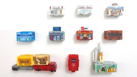 清扫车积木玩具车模型