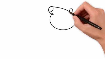 小猪佩奇最新第八季 一家一起跳彩色泥坑 简笔画