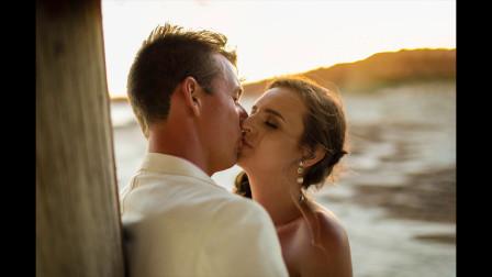时尚美女私房照,海边拍婚纱照,意境十分唯美
