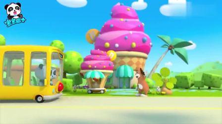 宝宝巴士:奇奇妙妙变身冰淇淋老板,推车冰淇淋车出去售卖冰淇淋