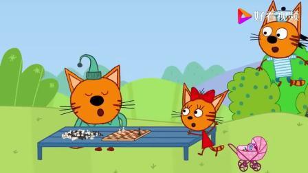 咪好一家:布丁终于找到了一个能够陪他练习象棋的伙伴