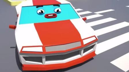 搞笑汽车玩具:小跑车真大胆抢了警车的杯子蛋糕