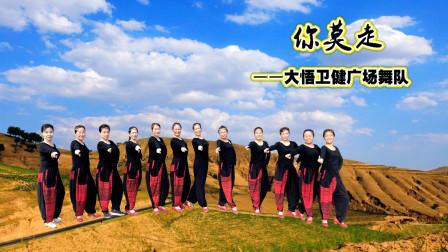 大悟卫健广场舞队《你莫走》网红舞 视频制作:心晴雨晴