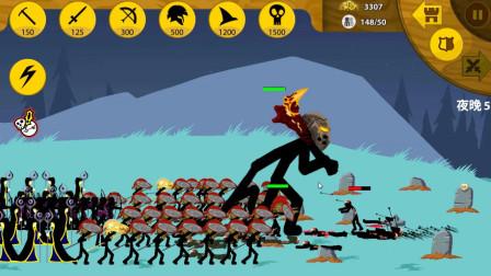 火柴人战争遗产:狡猾的僵尸冲过来,弓箭手显得很优势