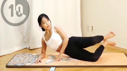 分腿燃脂减掉大象腿,每天练习提升腰部肌肉