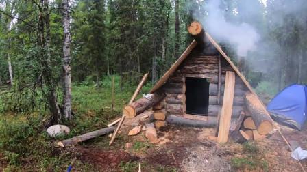 荒野生存 林中生活 建造一个林间小屋