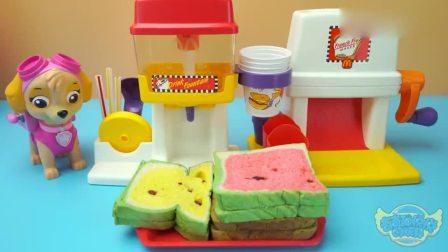 奇奇和悦悦的玩具:小猪佩奇彩色薯条机和饮料贩卖机,头回儿听说彩色薯条耶