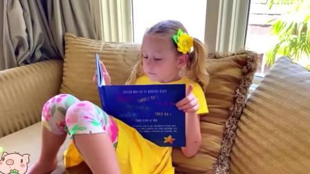国外儿童时尚,小萝莉和爸爸的睡前故事,来看看吧