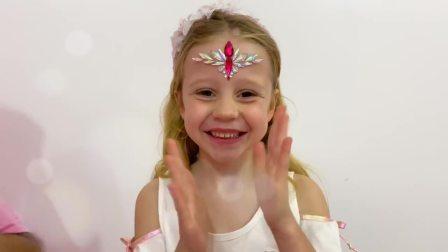 国外儿童时尚,小萝莉唱生日歌曲,开派对,吃生日蛋糕