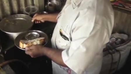 舌尖上的印度之街头烤面包套餐,两分钟快速出餐,你想来一份吗?