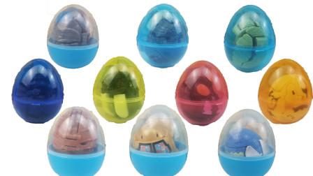 10款怪兽变形蛋奇趣蛋玩具,杰顿雷德王哥莫拉贝利亚