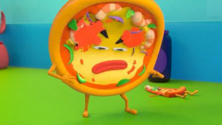 宝宝巴士:披萨遭受攻击,这也不能怪别人,谁叫它那么猖狂