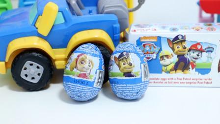 汪汪队立大功巧克力玩具奇趣蛋得到两个阿奇的玩具