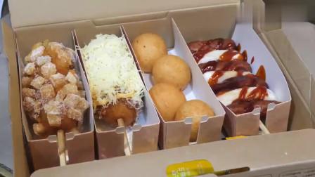 韩国当下最流行的小吃四件套,个顶个的美味,真是满满的诱惑力呀