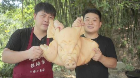 """200块买1个大猪头,做一大锅""""卤猪头"""",肉质软糯满口留香"""
