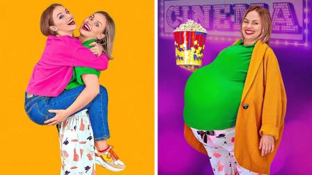 美女假装成超级大胖子,带着闺蜜一起看电影,网友:这操作绝了!
