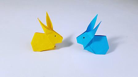 教你折纸小兔子,简单形象,儿童很喜欢