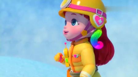 彩虹宝宝:成功关掉造雪机,真是太棒了!