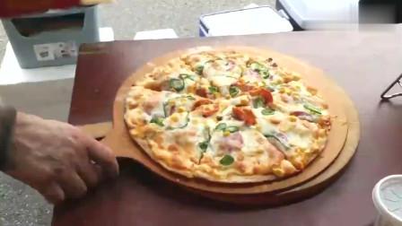 韩国街头美食,这样做的披萨你会喜欢吗反正我是爱上了