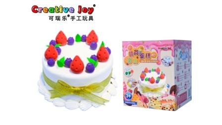 可瑞乐手工玩具新款粘土蛋糕—雪域莓莓