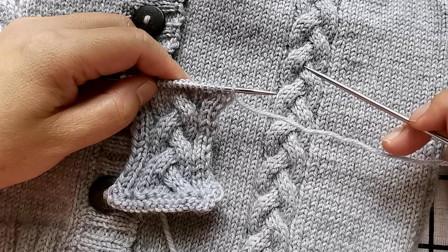 辫子绞麻花编织教程,新手可以编织,适合编织各种款式的毛衣