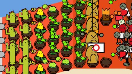 植物大战僵尸涂鸦版:2排仙人掌能阻止气球僵尸的进攻吗?