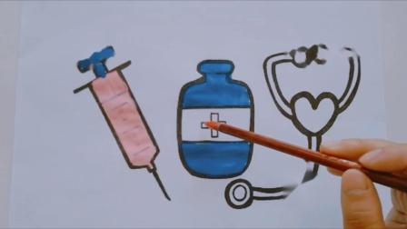 佩奇生病了要去医院打针