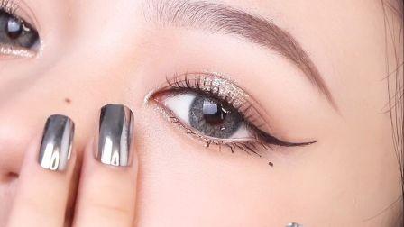 新手眼 妆教程/超火jennie同款小猫眼线该怎么画