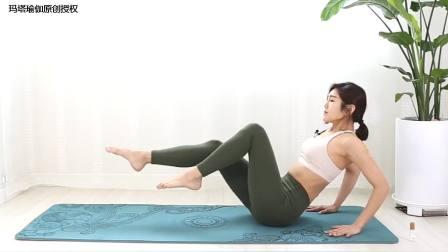 瘦腿塑形增肌基本体式,注意掌握平衡燃脂充分,呼吸也要调整好