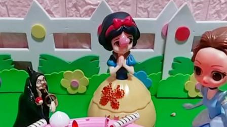 白雪公主的生日蛋糕画,是被贝尔公主撕毁的吗?