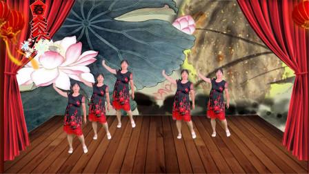 DJ版广场舞《花桥流水第一段》歌词爱意浓浓,舞步优美时尚