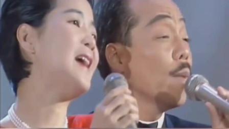 """30年前珍贵画面!40岁谷村新司与36岁邓丽君罕见同台,一向严肃的""""小老头""""抿嘴唇娇羞"""