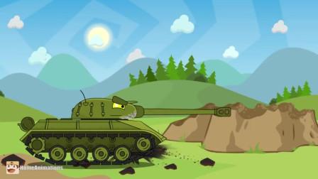 坦克世界动画:绽放光辉的杠三,一般坦克对付不了