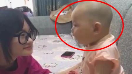 宝宝被小姨亲了一口,没想到下一刻的反应,直接让小姨尴尬了
