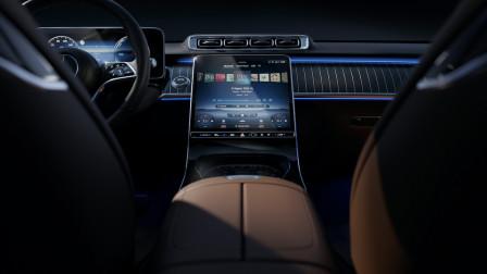 多维度营造豪华氛围!奔驰新S级轿车内饰官图发布