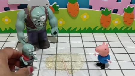 乔治用零花钱买了粘牙糖,自己都没吃留给了小鬼,小鬼的牙被粘住