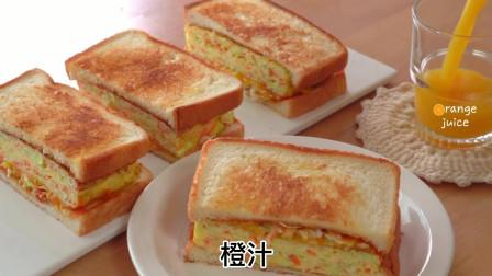 韩国厨师教你制作美味的卷心菜吐司