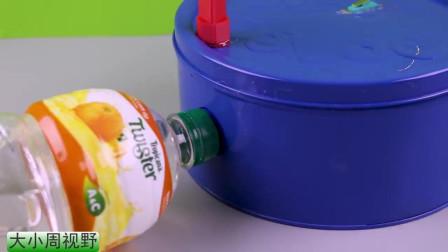 废弃的曲奇盒子做座子,3D打印固定架,就这么完成一个自动饮水机