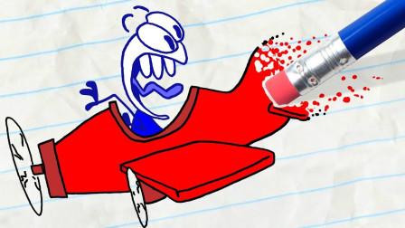 阿呆和小红比赛马拉松吗?谁先抵达终点?铅笔画小人游戏