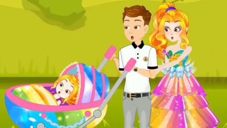 阿坤努力工作最终买到别墅和漂亮的裙子!小马国女孩游戏