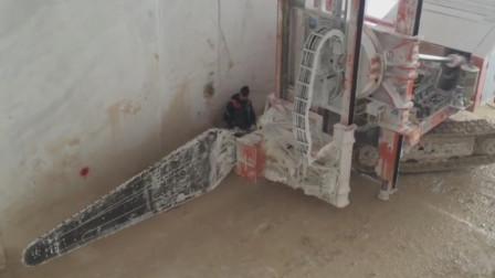 链臂锯式切割机快速切割大理石