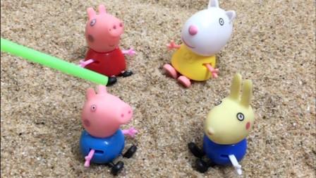 佩奇和乔治因为玩游戏争吵了,苏西也在旁边,姐弟两个一直吵!