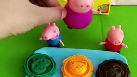 猪奶奶做了好吃的月饼,乔治和佩奇都好喜欢吃,小朋友喜欢吃什么口味的月饼呀?