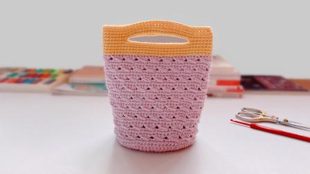钩针手提袋:收纳你的出门小物件,非常称手的手提小包