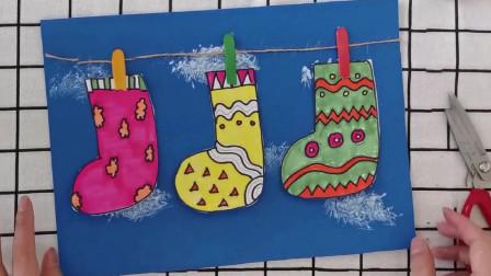 小鹿乐园精品手工嗮袜子,少年儿童暑期绘画优秀作品晒袜子,亲子DIY晒袜子,颜色艳丽超级可爱