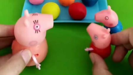 猪妈妈要做月饼了,给小猪佩奇和乔治做不同图案的,猪妈妈真好