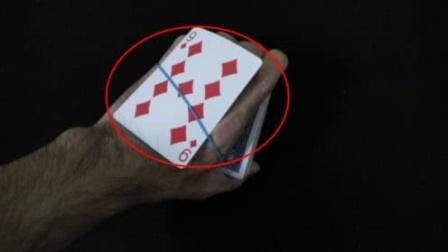 魔术教学:神奇的橡皮筋找扑克牌,原来这么简单!