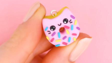 DIY手作,指尖上的黏土玩偶,可爱的小猫饼干装饰挂件